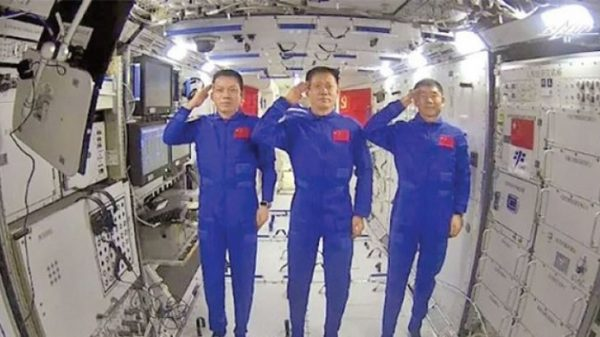 The first expedition for the construction of a space station by Chinese astronauts has been completed